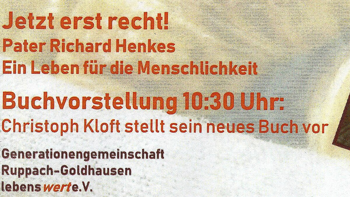 Brief-Roman über Richard Henkes erschienen